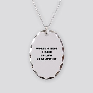 World's Best Sister-In-Law (Hashtag) Necklace Oval