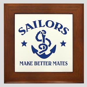 Sailors Make Better Mates Framed Tile