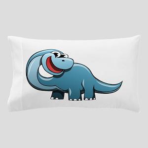 Cartoon Brontosaurus Pillow Case
