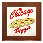 Love Chicago Pizza Framed Tile