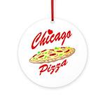 Love Chicago Pizza Ornament (Round)