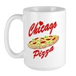 Love Chicago Pizza Large Mug