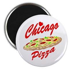 Love Chicago Pizza Magnet