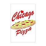 Love Chicago Pizza Mini Poster Print