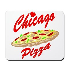 Love Chicago Pizza Mousepad