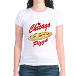 Love Chicago Pizza Jr. Ringer T-Shirt