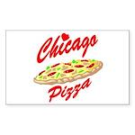Love Chicago Pizza Rectangle Sticker