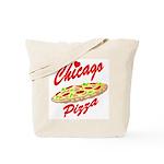 Love Chicago Pizza Tote Bag