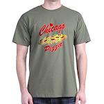 Love Chicago Pizza Dark T-Shirt