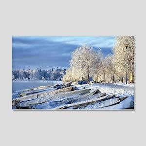 Finland Snowy Landscape 20x12 Wall Decal