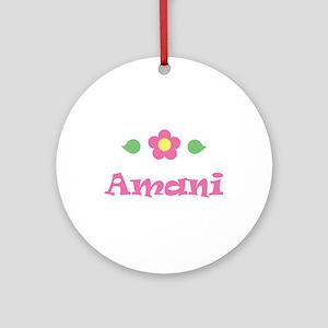 "Pink Daisy - ""Amani"" Ornament (Round)"
