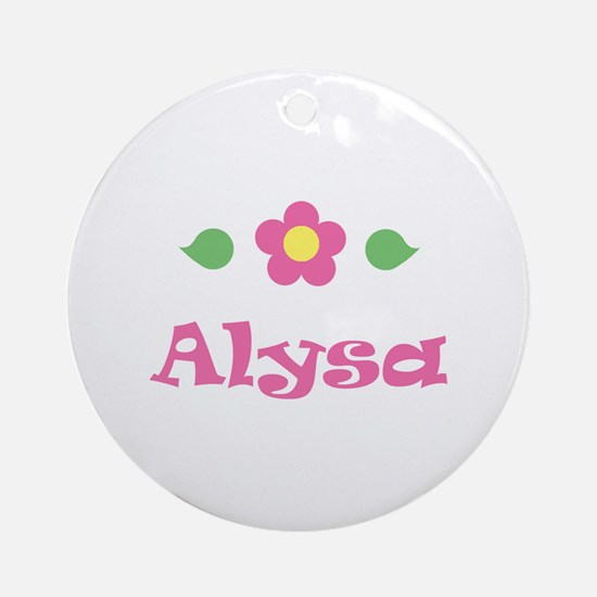 "Pink Daisy - ""Alysa"" Ornament (Round)"