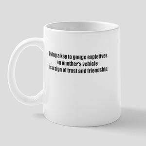 Using a Key Mug