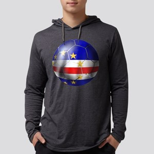 Cabo Verde Football Mens Hooded Shirt