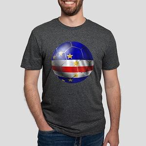 Cabo Verde Football Mens Tri-blend T-Shirt