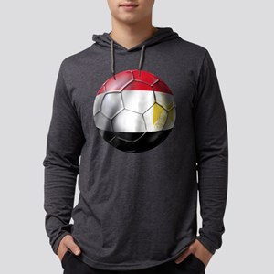 Egypt Soccer Ball Mens Hooded Shirt