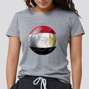 Egypt Soccer Ball Womens Tri-blend T-Shirt