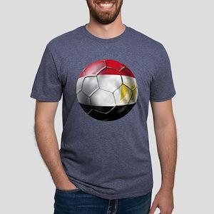 Egypt Soccer Ball Mens Tri-blend T-Shirt