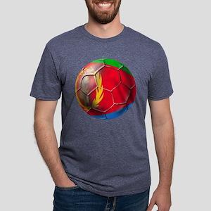 Eritrea Soccer Ball Mens Tri-blend T-Shirt
