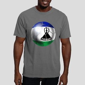 Lesotho Soccer Ball Mens Comfort Colors Shirt