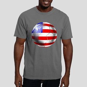 Liberia Soccer Ball Mens Comfort Colors Shirt