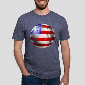 Liberia Soccer Ball Mens Tri-blend T-Shirt