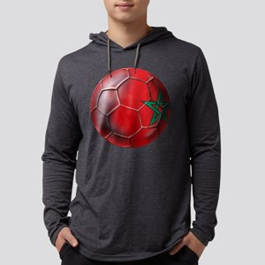 Moroccan Soccer Ball Mens Hooded Shirt
