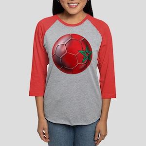 Moroccan Soccer Ball Womens Baseball Tee