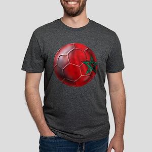 Moroccan Soccer Ball Mens Tri-blend T-Shirt