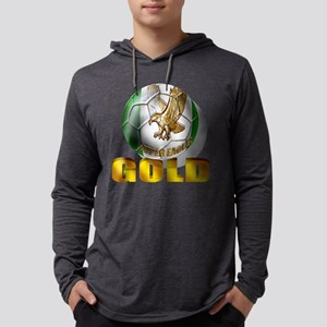 Nigerian Football Gold Mens Hooded Shirt