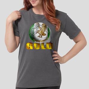 Nigerian Football Gold Womens Comfort Colors Shirt
