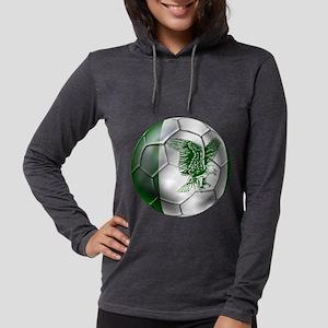 Nigeria Football Womens Hooded Shirt