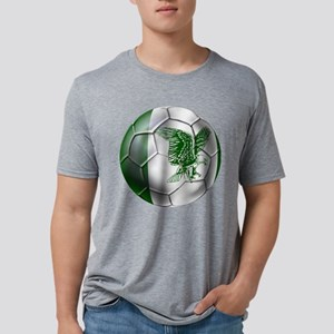 Nigeria Football Mens Tri-blend T-Shirt