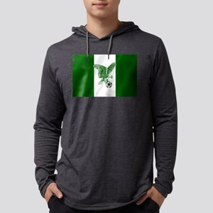 Nigerian Football Flag Mens Hooded Shirt