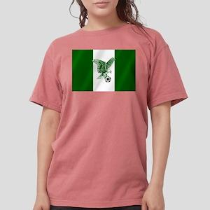 Nigerian Football Flag Womens Comfort Colors Shirt