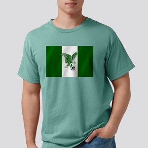 Nigerian Football Flag Mens Comfort Colors Shirt
