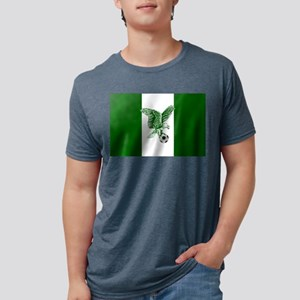 Nigerian Football Flag Mens Tri-blend T-Shirt