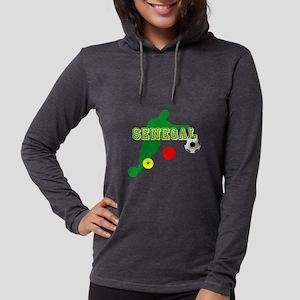 Senegal Soccer Womens Hooded Shirt