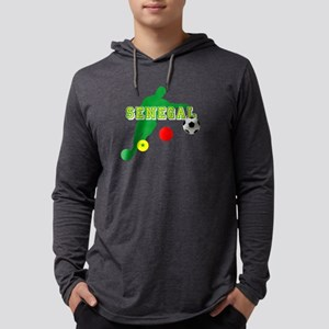 Senegal Soccer Mens Hooded Shirt