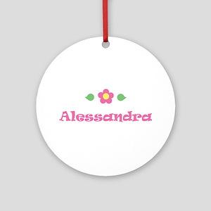 "Pink Daisy - ""Alessandra"" Ornament (Round)"