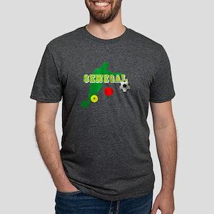 Senegal Soccer Mens Tri-blend T-Shirt