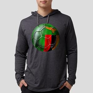Zambia Football Mens Hooded Shirt
