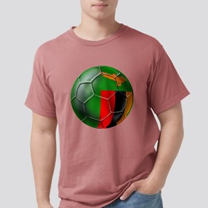 Zambia Football Mens Comfort Colors Shirt