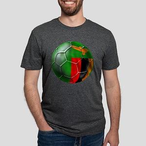 Zambia Football Mens Tri-blend T-Shirt