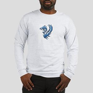 Twin Dragons: Blue Long Sleeve T-Shirt