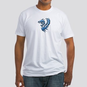 Twin Dragons: Blue Fitted T-Shirt