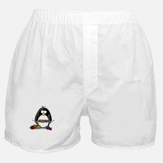 Knitting Penguin Boxer Shorts