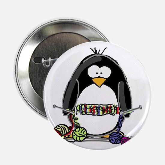 Knitting Penguin Button