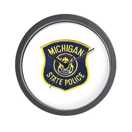 Michigan State Police Wall Clock
