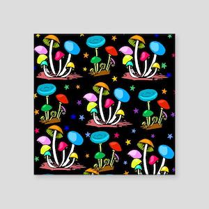"Rainbow Of Mushrooms Square Sticker 3"" x 3"""